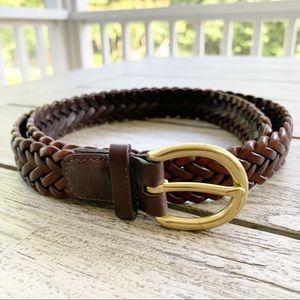 "Coach Vintage Woven Braided #3854 Belt 34"""